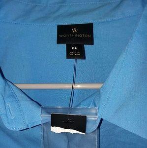 Blue Work Blouse, Full Sleeve fit